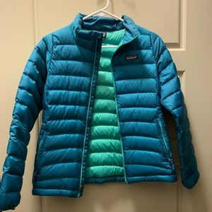 Kid's Large Patagonia Blue Bubble Jacket ❄️